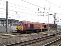 67019 on standby at the west end of Newcastle Central station on 21 May.<br><br>[Peter Todd&nbsp;21/05/2014]
