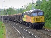 Colas Rail 56094 approaching Oxenholme on 29 May with the Carlisle - Chirk 'logs'.<br><br>[Bill Roberton&nbsp;29/05/2014]