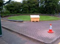 Every council office car park should have one - this filled in turntable pit is almost the only evidence of the existence of the former station at Dunstable North [see image 43024].<br><br>[Ken Strachan&nbsp;30/05/2014]