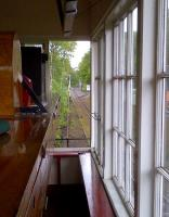 The varnishing railway. A view North from the South Tynedale Railway signal box on a quiet May afternoon [at the kind invitation of the signalman].<br><br>[Ken Strachan&nbsp;22/05/2014]