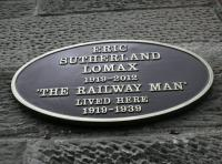 Plaque funded by ScotRail now in place at the former home of Eric Lomax in Bedford Terrace, Edinburgh.<br><br>[John Yellowlees&nbsp;10/06/2014]