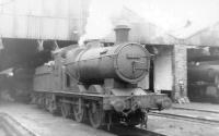 GWR Collett 0-6-0 no 2233 stands outside Oswestry shed in the summer of 1960. <br><br>[David Stewart&nbsp;18/08/1960]