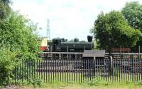 Ex-GWR 0-6-0 Pannier tank 3650 at work on the GWS demo line at Didcot on 12 June. Note the spark arrester.<br><br>[Peter Todd&nbsp;12/06/2014]