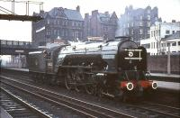60532 at Carlisle on 8 October 1966, having arrived earlier with the BR Scottish Region <I>'Blue Peter Excursion'</I> from Edinburgh via the Waverley route.<br><br>[G W Robin&nbsp;08/10/1966]