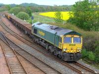 Freightliner 66622 at Inverkeithing East Junction with ballast on 18 May 2014.<br><br>[Bill Roberton&nbsp;18/05/2014]