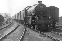 Fort William based K1 2-6-0 no 62052 runs into Mallaig on 22 May 1961 with the 5.45am from Glasgow.  <br><br>[David Stewart&nbsp;22/05/1961]