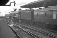 <i>'Did you leave a tap running Nigel?'</i> 60007 prepares to leave Newcastle Central in the sixties.<br><br>[K A Gray&nbsp;//]