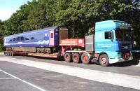 Unusual sight in the lorry park at Charnock Richard Services on the M6 on 20 June 2014.<br><br>[John Steven&nbsp;20/06/2014]