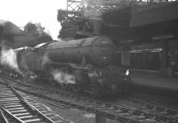 York V2 2-6-2 no 60855 stands at Newcastle Central on a gloomy 17 August 1963 at the head of the 8.8am summer Saturday service to Lowestoft.<br><br>[K A Gray&nbsp;17/08/1963]