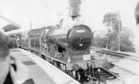 Ex-Caledonian 4-4-0 no 54465 stands at Cathcart on 27 May 1962 with a special bound for Beith Town.<br><br>[John Robin&nbsp;27/05/1962]