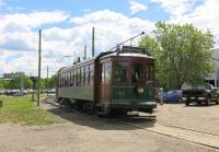 Preserved <I>Streetcar 33</I> leaves the Old Strathcona terminus in Edmonton to travel north to Jasper Plaza over the High Level Bridge. Built in 1912, the tramcar was found in use as a farm building and restored to immaculate original condition over a period of 17 years by members of the Edmonton Radial Railway Society. It returned to service in 2011. <br><br>[Malcolm Chattwood&nbsp;16/06/2014]