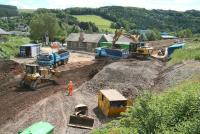 Work in progress at Stow on 30 June, view south over the station site.<br><br>[John Furnevel&nbsp;30/06/2014]
