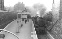 A Cathcart Circle train calls at Queens Park in the early 1960s behind a Fairburn 2-6-4 tank.<br><br>[David Stewart&nbsp;//]