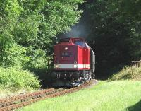 An ex-DR Class 112 hauls a Lauterbach Mole-Bergen auf Ruegen service into Putbus on 14th June.<br><br>[David Spaven&nbsp;14/06/2014]