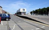Out of use facilities at Weymouth Quay on 17 July 2014. While tracks are still in place, the last recorded use of the branch was in 1999 by a railtour.<br><br>[Peter Todd&nbsp;17/07/2014]