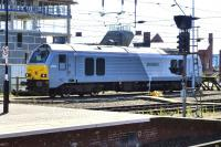 Class 67 no 67015 <I>David J Lloyd</I> in the sidings at the west end of Newcastle Central station on 9 July 2014.<br><br>[Colin Miller&nbsp;09/07/2014]