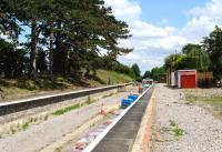 The new station at Broadway, Worcestershire, at the northern end of the Gloucestershire Warwickshire Railway, under construction in July 2014. The previous station here was closed by BR in 1960 and subsequently demolished.<br><br>[Peter Todd&nbsp;28/07/2014]