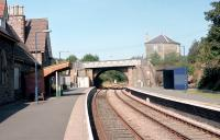 The station at Knighton on the Heart of Wales Line in 2002 looking west. [Ref query 6933]<br><br>[Ewan Crawford&nbsp;//2002]