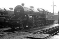 Hurlford based <I>Crab</I> 2-6-0 no 42739 standing in the shed yard at Eastfield towards the end of 1963.<br><br>[K A Gray&nbsp;//1963]