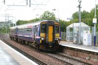 With just over a month to go before it is due to be replaced by an Electric Multiple Unit, 156456 draws into Kirkwood station on 21st August 2014 with a Glasgow Central to Whifflet service.<br><br>[Colin McDonald&nbsp;21/08/2014]