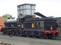 D49 <I>Morayshire</I> being coaled after the last train of the day at Boness on 25 August 2014.<br><br>[Bill Roberton&nbsp;25/08/2014]