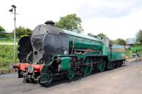 Maunsell Schools Class 4-4-0 925 <I>Cheltenham</I> at Ropley on the Mid-Hants Railway on 23 August 2014.<br><br>[Peter Todd&nbsp;23/08/2014]