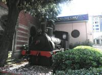Preserved steam locomotive outside the railway museum next to Istanbul's Sirkeci Station in August 2014.<br><br>[John Yellowlees&nbsp;20/08/2014]