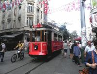 Istanbul's only revived heritage tram provides a one-stop shuttle from Taksin Square on 21 August 2014.<br><br>[John Yellowlees&nbsp;21/08/2014]