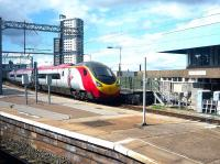 A southbound Virgin Pendolino service about to leave Wolverhampton for Euston on 23 August 2014.<br><br>[John Steven&nbsp;23/08/2014]