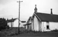 The derelict station at Lundin Links in August 1969, almost four years after closure. Taken from the north side of the station looking east towards Largo. [Ref query 7587]<br><br>[Bill Jamieson&nbsp;/08/1969]