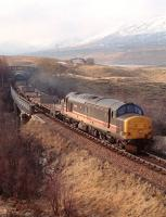 Northbound above Loch Tulla in late 1991 on the way to Gorton.<br><br>[Ewan Crawford&nbsp;//1991]