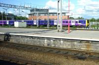 A Northern rail 323 EMU departing from Crewe on 23 August with the 16.34 service to Manchester Piccadilly.<br><br>[John Steven&nbsp;23/08/2014]
