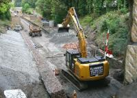 Work underway at the old Eskbank station site on 3 September 2014. View north. <br><br>[John Furnevel&nbsp;03/09/2014]