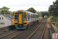 A Carlisle to Leeds train has just departed from Lazonby & Kirkoswald station during the late afternoon of 6 September and is crossing the short viaduct approaching Lazonby tunnel.<br><br>[John McIntyre&nbsp;06/09/2014]