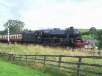 Black 5 45428 passing Abbots House Farm, south of Goathland, on 29 July 2014.<br><br>[Colin Alexander&nbsp;29/07/2014]