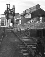 Sidings alongside the British Aluminium Company works in Burntisland around 1984. [Ref query 4339]<br><br>[Bill Roberton&nbsp;//1984]