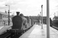 Station pilot at Belfast Great Victoria Street on 28 August 1965 is S Class 4-4-0 no 171, seen here preparing to take out a train of empty stock.<br><br>[K A Gray&nbsp;28/08/1965]