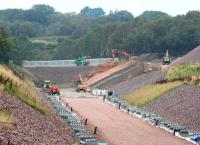 Work continuing north of Tynehead on 14 September 2014 on the replacement farm access running west from the B6367.<br><br>[John Furnevel&nbsp;14/09/2014]