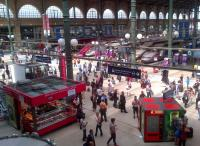 Full house at Gare du Nord on 5 August - I see three TGVs, a Thalys, and two Eurostars... just.<br><br>[Ken Strachan&nbsp;05/08/2014]