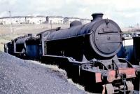 Stored at Eastfield in July 1961 awaiting disposal is Gresley K2 2-6-0 61788 <I>Loch Rannoch</I>. Withdrawn from 65A the previous month the locomotive was cut up at Cowlairs Works two months later.<br><br>[John Robin&nbsp;/07/1961]