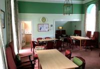 Part of the converted waiting room at the former Caledonian Railway terminus in Montrose, now the residents lounge in a sheltered housing complex [see image 48834].<br><br>[Andy Furnevel&nbsp;18/09/2014]