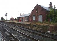 The old station at Bedlington looking north from Bedlington South level crossing in September 2014. [See image 48832]<br><br>[John Steven&nbsp;24/09/2014]