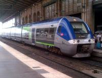 Bombardier multiple unit no. B82689 awaits its next turn of duty at Paris Gare du Nord on 5th August.<br><br>[Ken Strachan&nbsp;05/08/2014]