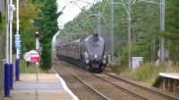 A4 60009 <I>Union of South Africa</I> passing Barassie on 27 September 2014 with <I>The Scottish Lowlander</I> railtour.<br><br>[Ken Browne&nbsp;27/09/2014]