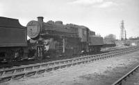 The legendary Ivatt 4MT 2-6-0 no 43139 on Carlisle Canal shed in June 1963 [see image 30631].<br><br>[K A Gray 01/06/1963]
