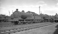 J26 0-6-0 65756 and friends in the yard at Thornaby on Sunday 26 March 1961.<br><br>[K A Gray&nbsp;26/03/1961]