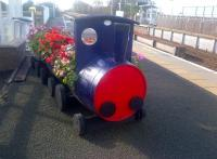 A particularly fine barrel-train on the platform at Lochgelly in October 2014. This example is looked after by the Benarty Regeneration Action Group (BRAG Enterprises).<br><br>[John Yellowlees&nbsp;07/10/2014]