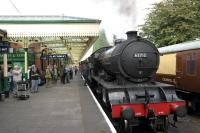 D49 62712 <I>Morayshire</I> preparing to take a train out of Loughborough Central on 2 October 2014.<br><br>[Peter Todd&nbsp;02/10/2014]
