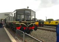 When Iris eyes are smiling - the preserved Derby lightweight unit on show at the Etches Park Open Day on 13 September. Notice the primrose coloured locomotive on the right [see image 48826].<br><br>[Ken Strachan&nbsp;13/09/2014]