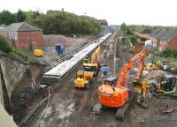 Progress at Newtongrange on 5 October 2014 with platform construction well advanced.<br><br>[John Furnevel&nbsp;05/10/2014]